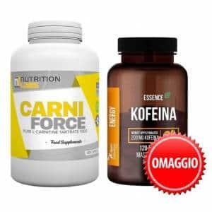 carni force con caffeina in omaggio, pacchetto dimagrante per veicolare il grasso e migliorare il metabolismo basale