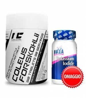 forskolina iodio paccheto 2x1 dimagrante tiroideo, agisce sugli ormoni t3 e t4