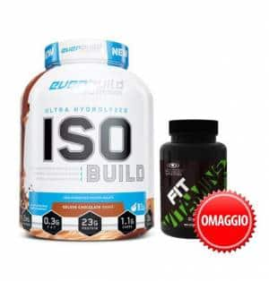 iso build idrolizzate con fit vita mins in omaggio, promo pack post workout
