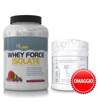 paccheto acquisti due e paghi uno whey protein isolate con bcaa kyowa pharmapure 8 1 1