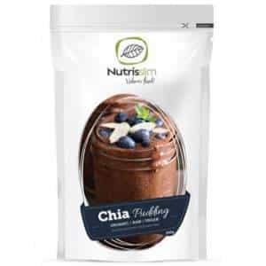 budino di chia biologico vegan preparato per budini ipocalorici al gusto cioccolato, solo ingredienti raw
