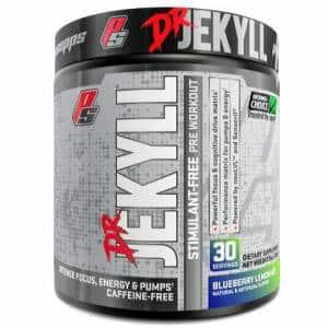 dr jekyll stimulant free pre workout senza caffeina, agisce sul pompaggio, sull'energia e sulla volumizzazione