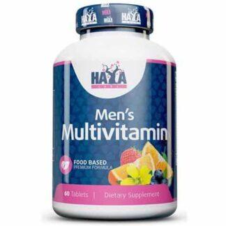 food based men's multivita integratore di vitamine, minerali ed altri composti utili per il benessere e la prestanza fisica