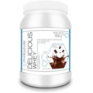 delicious whey protein proteina in polvere isolata e concentrata dal siero indicata dopo l'allenamento con i pesi