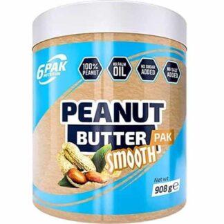 6pak burro di arachidi 908g crema spalmabile realizzata solo con arachidi tostate, ricca di energia e proteine