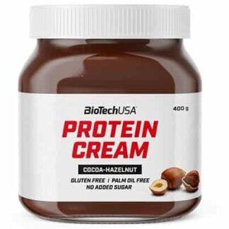protein cream ciocco nocciola crema spalmabile proteica senza glutine ne olio di palma, ottima al palato e con pochissimi zuccheri naturali
