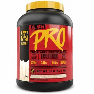 mutant pro triple whey proteina in polvere in blend sieroproteico ideale post workout dopo i pesi